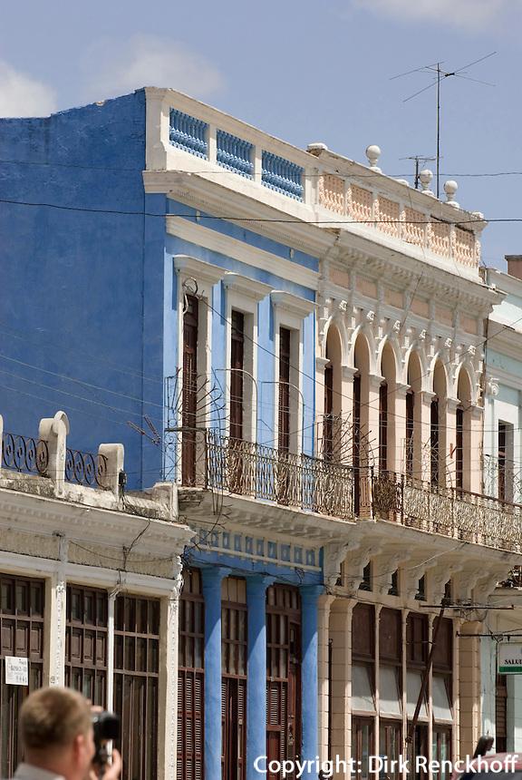 Cuba, Kolonialgebäude in Cienfuegos, Unesco-Weltkulturerbe