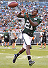 Morris Claiborne #21 of the New York Jets makes a catch during the team's annual Green & White practice and scrimmage at MetLife Stadium in East Rutherford, NJ on Saturday, Aug. 5, 2017.