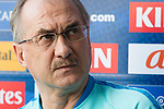 Uli Stielike and Ki Sung-yueng, coach and captain of the Korea Republic, attend a press Conference ahead their 2018 FIFA World Cup Russia Final Qualification Round Group A match against Qatar at Suwon World Cup Stadium on 05 October 2016, in Suwon, Korea. Photo by Victor Fraile / Power Sport Images