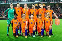 GRONINGEN -  Voetbal, Nederland - Noorwegen, Noordlease stadion, WK kwalificatie vrouwen, 24-10-2017,   teamfoto Nederland