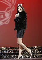 12 July, 2008:   2007 Miss Washington and second runner up in the Miss America pageant Elyse Umemoto models a mink Jacket that the winner of Miss Washington will receive during the crowning of the 2008 Miss Washington in the Pantages Theater in Tacoma , Washington.