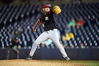 Richmond Flying Squirrels relief pitcher Carlos Alvarado (58) during a game against the Akron RubberDucks on July 26, 2016 at Canal Park in Akron, Ohio .  Richmond defeated Akron 10-4.  (Mike Janes/Four Seam Images)