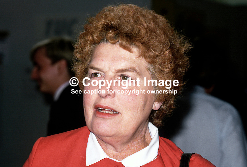 Joan Lestor, MP, Labour Party, UK, 19870906JL.<br />