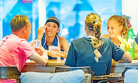 Hilversum, Netherlands, August 8, 2018, National Junior Championships, NJK, Playing cards<br /> Photo: Tennisimages/Henk Koster