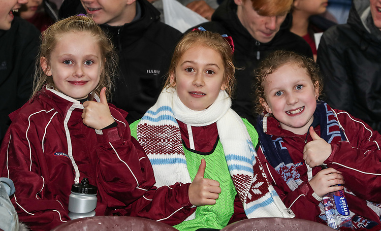 Burnley supporters<br /> <br /> Photographer Andrew Kearns/CameraSport<br /> <br /> The Premier League - Burnley v Liverpool - Wednesday 5th December 2018 - Turf Moor - Burnley<br /> <br /> World Copyright &copy; 2018 CameraSport. All rights reserved. 43 Linden Ave. Countesthorpe. Leicester. England. LE8 5PG - Tel: +44 (0) 116 277 4147 - admin@camerasport.com - www.camerasport.com