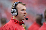 MADISON, WI - SEPTEMBER 9: Head coach Bret Bielema of the Wisconsin Badgers watches his team play against the Western Illinois Leathernecks at Camp Randall Stadium on September 9, 2006 in Madison, Wisconsin. The Badgers beat the Leathernecks 34-10. (Photo by David Stluka)