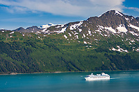 The Coral Princess Cruise ship in College Fjord, Prince William Sound, Alaska
