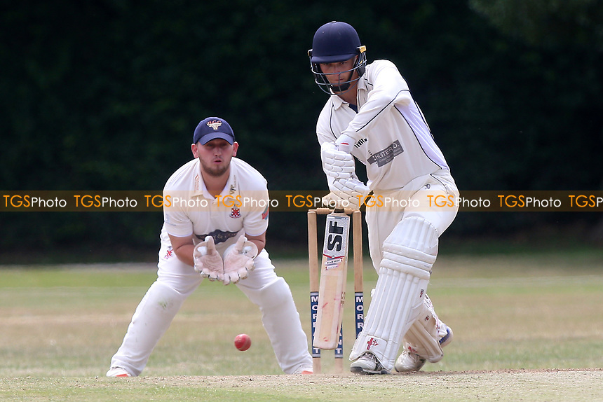 J Whetstone in batting action for Upminster during Upminster CC vs Hornchurch CC, Shepherd Neame Essex League Cricket at Upminster Park on 8th July 2017