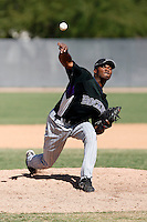 Alberto Alburqueque - Colorado Rockies, 2009 Instructional League.Photo by:  Bill Mitchell/Four Seam Images..