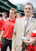 Dave Warsofsky (Boston University - player), Brian Kelley (Boston University - Senior Assistant Director-Athletic Communication) - A press conference hosted by the Hockey East Association, the Boston Red Sox and Fenway Sports Group was held on Thursday, August 20, 2009, at Fenway Park in Boston, MA, to announce that there would be a Hockey East college hockey doubleheader on Friday, January 8, 2010, held on the ice that will be used for the January 1, 2010 NHL Winter Classic.  The afternoon (4:00 pm EST) match will be between the Northeastern University Huskies (home team) and University of New Hampshire Wildcats women's teams while the evening (7:30 pm EST) match will be between the Boston College Eagles (home team) and the Boston University Terriers men's teams.