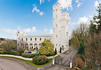 BNPS.co.uk (01202 558833)<br /> Pic: Jackson-Stops/BNPS<br /> <br /> Towering above the neighbours...<br /> <br /> A historic tower home that has hosted royalty, politicians and rock stars has become available to rent for almost £6,000 a month.<br /> <br /> Ruxley Tower was originally built by The Rt Hon Lord Thomas Foley in 1870 for his wife Evelyne.  Queen Victoria is said to have once taken tea in the drawing room.<br /> <br /> In 2009 the quirky property was rented out to Rolling Stones guitarist Ronnie Wood for two years after his split from wife Jo. The 80ft tower is available to rent through agents Jackson-Stops.