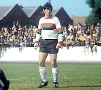 Tommy Morrow, footballer, Glentoran FC, Belfast, N Ireland, August, 1969, 196908000223<br /> <br /> Copyright Image from<br /> Victor Patterson<br /> 54 Dorchester Park<br /> Belfast, N Ireland, UK, <br /> BT9 6RJ<br /> <br /> t1: +44 28 90661296<br /> t2: +44 28 90022446<br /> m: +44 7802 353836<br /> e1: victorpatterson@me.com<br /> e2: victorpatterson@gmail.com<br /> <br /> www.victorpatterson.com