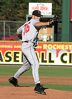 July 18, 2003:  Derek Lee of the Indianapolis Indians during a game at Frontier Field in Rochester, New York.  Photo by:  Mike Janes/Four Seam Images