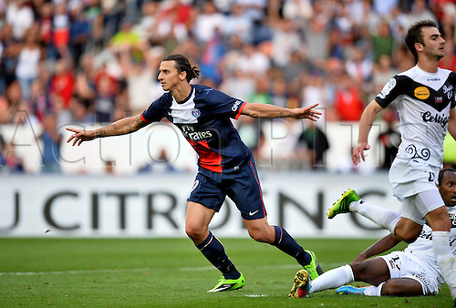 31.08.2013. Paris, France. French League football. Paris St Germain versus Guingamp Aug 31st.  Zlatan Ibrahimovic (psg)
