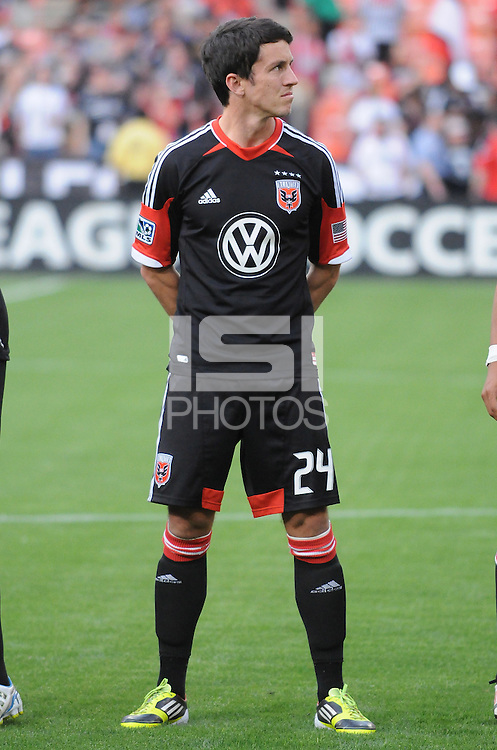D.C. United midfielder Lewis Neal (24) D.C. United defeated the Colorado Rapids 2-0 at RFK Stadium, Wednesday May 16, 2012.