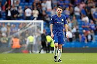 Jorginho of Chelsea during the Premier League match between Chelsea and Sheff United at Stamford Bridge, London, England on 31 August 2019. Photo by Carlton Myrie / PRiME Media Images.