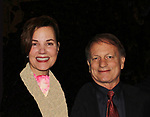 As The World Turns' Margaret Colin & husbaned Justin Deas - Margaret Colin stars as Mrs. Mullin in Broadway's Carousel with opening night being April 12, 2018 at the Imperial Theatre at the stage door, New York City. New York. (Photo by Sue Coflin/Max Photo)