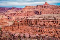 Rock forms above Meander Canyon, Colorado River, Utah