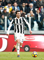 Calcio, Serie A: Juventus - Sassuolo, Torino, Allianz Stadium, 4 Febbraio 2018. <br /> Juventus Federico Bernardeschi in action during the Italian Serie A football match between Juventus and Sassuolo at Torino's Allianz stadium, February 4, 2018.<br /> UPDATE IMAGES PRESS/Isabella Bonotto