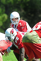 Jul 30, 2008; Flagstaff, AZ, USA; Arizona Cardinals quarterback (7) Matt Leinart during training camp on the campus of Northern Arizona University. Mandatory Credit: Mark J. Rebilas-