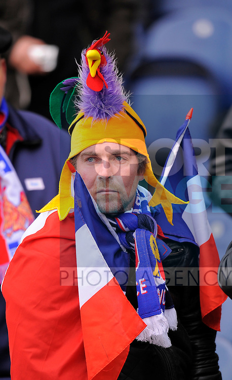French fans arrive early at Murrayfield ..RBS 6 Nations match between Scotland v France at Murrayfield Stadium Edinburgh on the 26th February 2012..Sportimage +44 7980659747.picturedesk@sportimage.co.uk.http://www.sportimage.co.uk/.