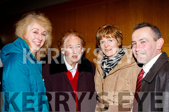 L-R Riosin&Joan O'Hanlon with Noreen&George Leen enjoying the Causeway Comhaltas social in the Ballyroe Heights hotel, Tralee last Saturday night.