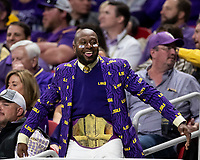 ATLANTA, GA - DECEMBER 7: LSU fan during a game between Georgia Bulldogs and LSU Tigers at Mercedes Benz Stadium on December 7, 2019 in Atlanta, Georgia.
