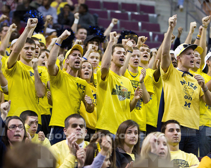 The University of Michigan men's basketball team beat Oakland University 90-80 at The Palace of Auburn Hills, Mich., on December 10, 2011.