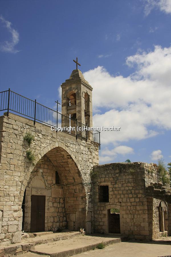 Israel, Upper Galilee. The Maronite Church of Kfar Biram