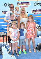 "Tori Spelling, Dean McDermott & Family at the world premiere for ""Hotel Transylvania 3: Summer Vacation"" at the Regency Village Theatre, Los Angeles, USA 30 June 2018<br /> Picture: Paul Smith/Featureflash/SilverHub 0208 004 5359 sales@silverhubmedia.com"