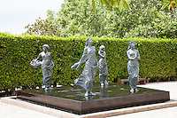 Elements Sculptures at Main Plaza of Cerritos Sculpture Gardens