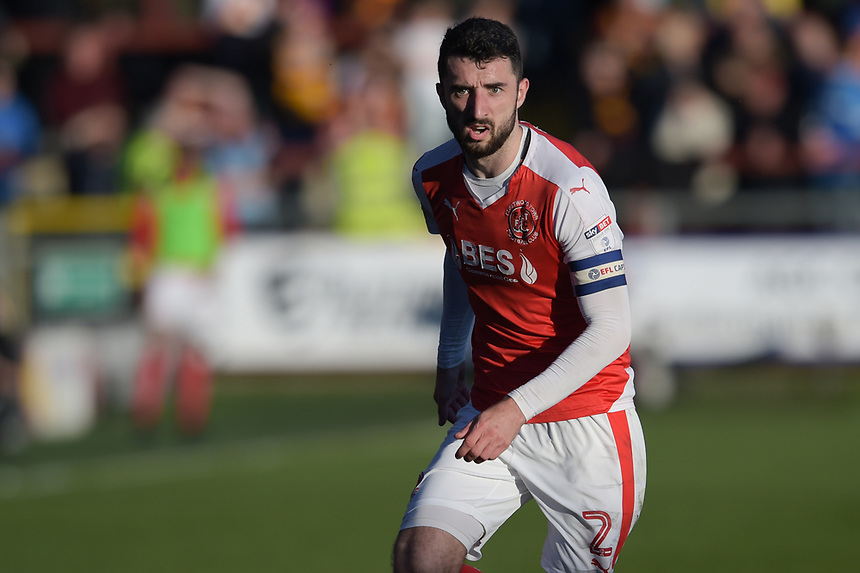 Fleetwood Town's Conor McLaughlin<br /> <br /> Photographer Terry Donnelly/CameraSport<br /> <br /> The EFL Sky Bet League One Play-Off Second Leg - Fleetwood Town v Bradford City - Sunday 7th May 2017 - Highbury Stadium - Fleetwood<br /> <br /> World Copyright &copy; 2017 CameraSport. All rights reserved. 43 Linden Ave. Countesthorpe. Leicester. England. LE8 5PG - Tel: +44 (0) 116 277 4147 - admin@camerasport.com - www.camerasport.com
