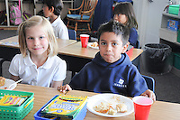 The Harker School - LS - Lower School - Judi Biel's Grade 2 class has their annual Johnny Appleseed party and movie - Photo by Kyle Cavallaro