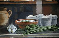 Europe/France/Rhône-Alpes/69/Rhône/Lyon: La fresque des lyonnais rue de la Martinière - Gastronomie lyonnaise -  Cervelle  des Canuts [Non destiné à un usage publicitaire - Not intended for an advertising use] [Non destiné à un usage publicitaire - Not intended for an advertising use]