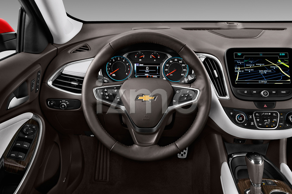 Car pictures of steering wheel view of a 2017 Chevrolet Malibu Premier 4 Door Sedan