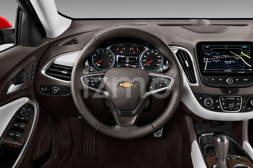 Car pictures of steering wheel view of a 2018 Chevrolet Malibu Premier 4 Door Sedan