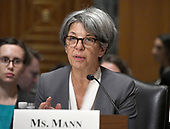 "Cindy Mann, Former Deputy Administrator and Director of the Center for Medicaid and CHIP Services, Centers for Medicare & Medicaid Services, United States Department of Health and Human Services, testifies before the US Senate Committee on Finance ""Hearing to Consider the Graham-Cassidy-Heller-Johnson Proposal"" on the repeal and replace of the Affordable Care Act (ACA) also known as ""ObamaCare"" in Washington, DC on Monday, September 25, 2017.  Mann was testifying against the bill.<br /> Credit: Ron Sachs / CNP"