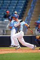 Second Baseman Caleb Balgaard (4) of Howell High School in Fenton, Michigan playing for the Kansas City Royals scout team during the East Coast Pro Showcase on August 3, 2016 at George M. Steinbrenner Field in Tampa, Florida.  (Mike Janes/Four Seam Images)