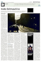 die tageszeitung taz (German daily) on the Western Ukrainian city of Lviv, 2014.07.09.<br /> Photo: Martin Fejer