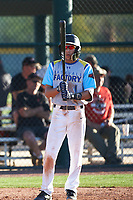 Jacob Fong (1) of Saint Anthony High School in Long Beach, California during the Baseball Factory All-America Pre-Season Tournament, powered by Under Armour, on January 13, 2018 at Sloan Park Complex in Mesa, Arizona.  (Art Foxall/Four Seam Images)