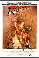 BNPS.co.uk (01202 558833)<br /> Pic: Paramount/BNPS<br /> <br /> ***Please Use Full Byline***<br /> <br /> The official film poster for Indiana Jones, Raiders of the Lost Ark.<br /> <br /> A special effects bust from one of the most famous scenes in Indiana Jones and the Raiders of the Lost Ark has emerged for sale at auction.The macabre-looking head and shoulders of the Nazi official Colonel Dietrich was used near the end of the film when the ark was opened.In the iconic scene, several Nazi soldiers are brutally killed by spirits which erupt from the ark, burning them to death.The 'angels of death' cause Dietrich's head to shrivel up leaving a stunned expression across his face.