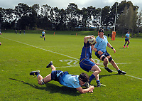 Action from the rugby match between Otago and Northland in the Jack Hobbs Memorial Under-19 Rugby Tournament at Owen Delaney Park in Taupo, New Zealand on Wednesday, 13 September 2012. Photo: Dave Lintott / lintottphoto.co.nz