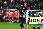 06.10.2019, Commerzbankarena, Frankfurt, GER, 1. FBL, Eintracht Frankfurt vs. SV Werder Bremen, <br /> <br /> DFL REGULATIONS PROHIBIT ANY USE OF PHOTOGRAPHS AS IMAGE SEQUENCES AND/OR QUASI-VIDEO.<br /> <br /> im Bild: Frust bei Almamy Toure (Eintracht Frankfurt #18)<br /> <br /> Foto © nordphoto / Fabisch