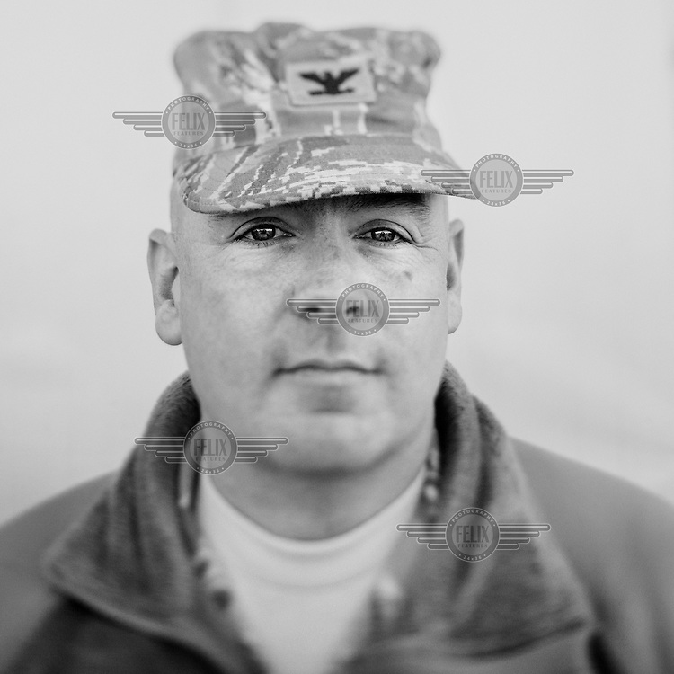 Base commander Joseph L. Prue of the Thule Air Base. Thule Air Base was established as an American military base in 1951 and is the US Air Force's northernmost base. During the cold War it employed over 10,000 people, mainly serving as a landing and refuelling strip for American bombers, lying halfway between the US and the Soviet Union's industrial heartland via the North Pole. Today, around 550 people work at the base with another 400 Danish and Greenlandic civilian staff.