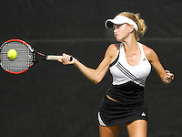The opening day of the University of Miami Fall Classic tennis tournament at Coral Gables, Florida on Friday, November 10, 2006...Senior Shilla D'Armas<br />