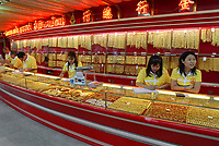 Thailand Bangkok , gold shop in china town / Thailand Bangkok , Gold Laden in der China Town