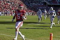 NWA Democrat-Gazette/BEN GOFF @NWABENGOFF<br /> Rakeem Boyd, Arkansas running back, scores a 52 yard touchdown in the second quarter vs Mississippi State Saturday, Nov. 2, 2019, at Reynolds Razorback Stadium in Fayetteville.