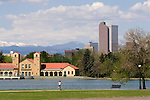 Woman running in City Park, Denver, Colorado, .  John offers private photo tours in Denver, Boulder and throughout Colorado. Year-round.