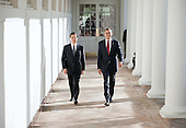 United States President Barack Obama and President Hu Jintao of China walk along the Colonnade of the White House, Wednesday, January 19, 2011. .Mandatory Credit: Pete Souza - White House via CNP