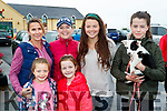 Therese Greaney, Megan Barrero, Theresa O'Brien, Sarah Greaney, Sarah Jo Lynch and Ali Lynch with Betty the Dog, who took part in the Tony O'Donoghue Memorial walk in Blennerville on Saturday last.